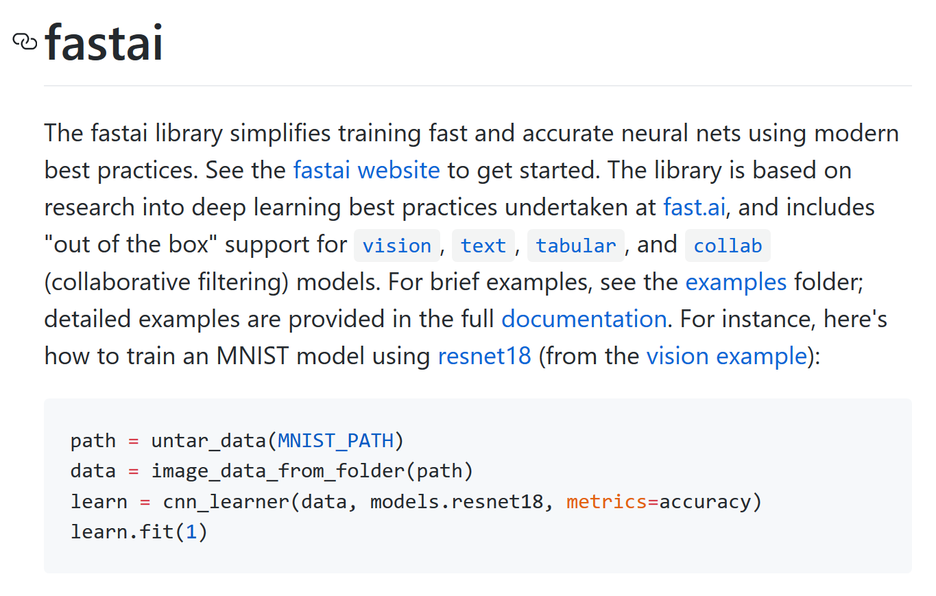 GitHub - fastai/fastai: The fastai deep learning library