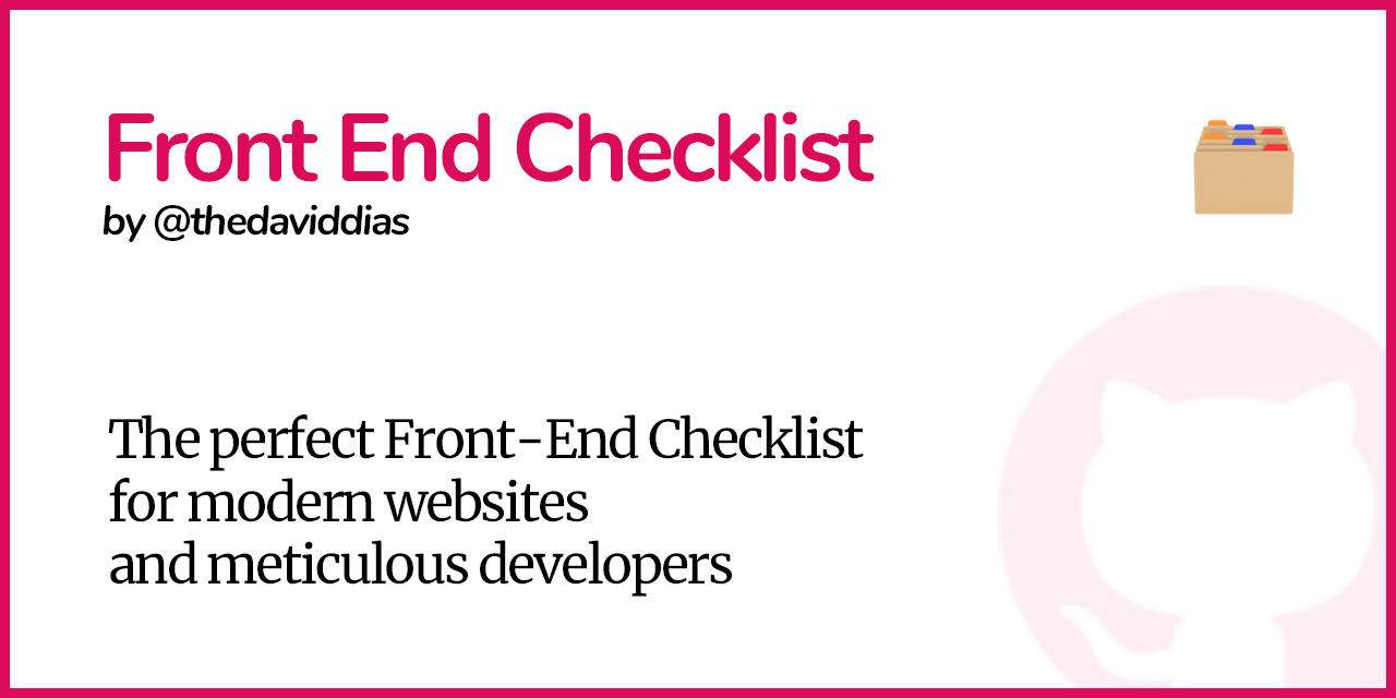 Front-End-Checklist
