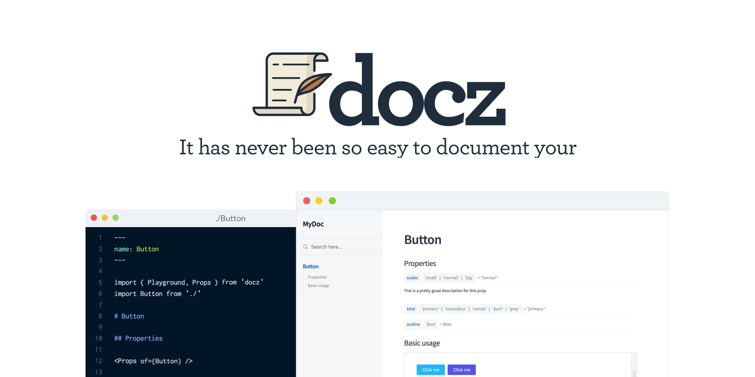 GitHub - doczjs/docz: ✍🏻It has never been so easy to