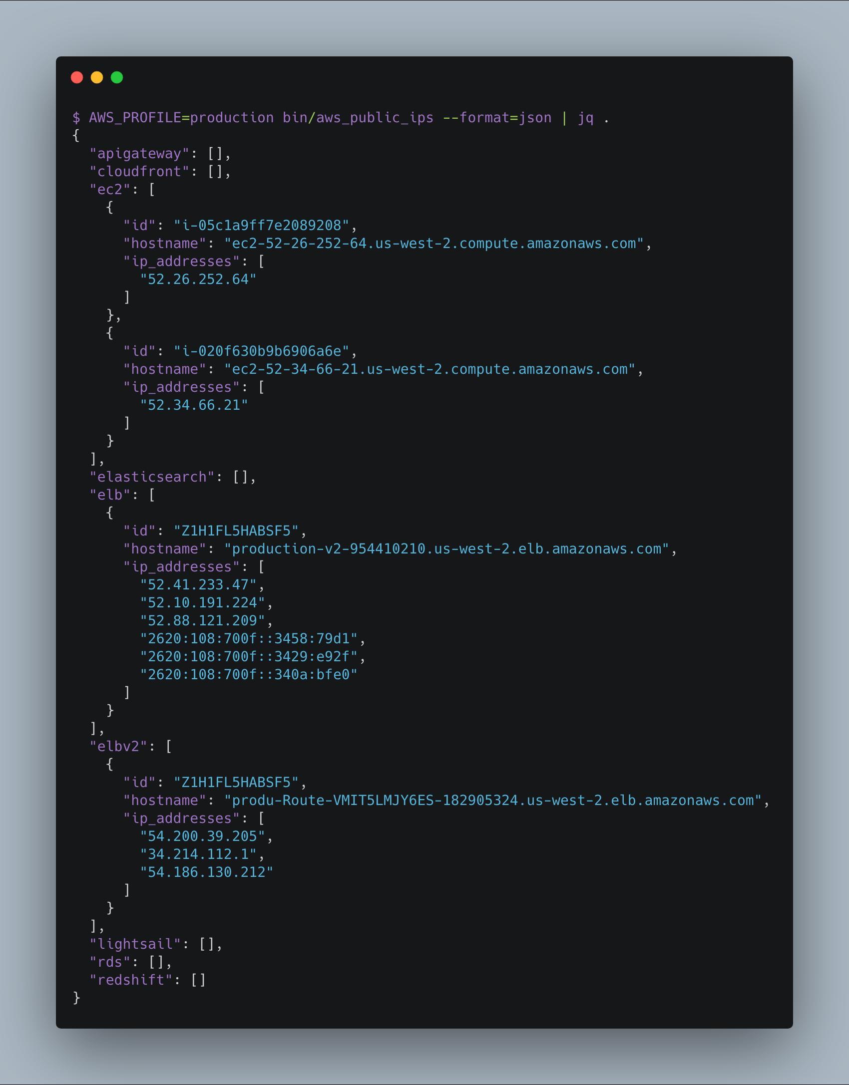 GitHub - arkadiyt/aws_public_ips: Fetch all public IP addresses tied