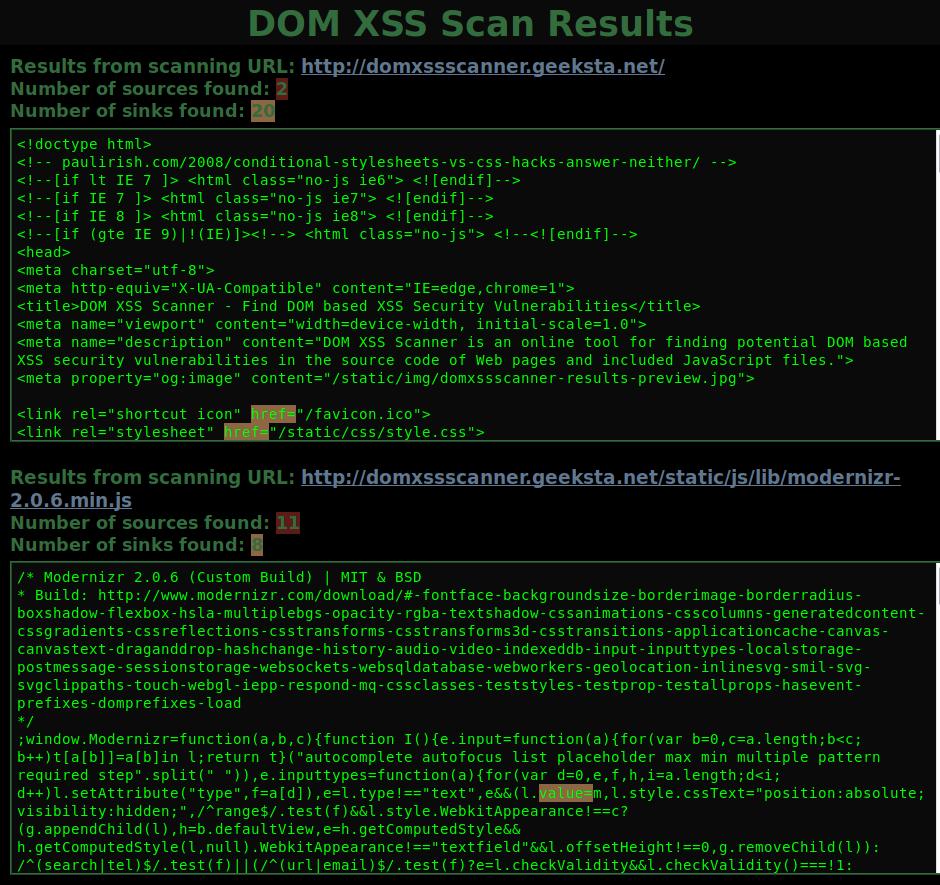 domxssscanner