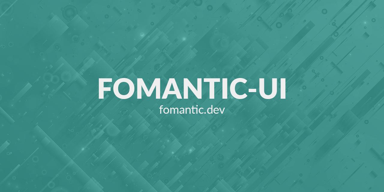Fomantic-UI