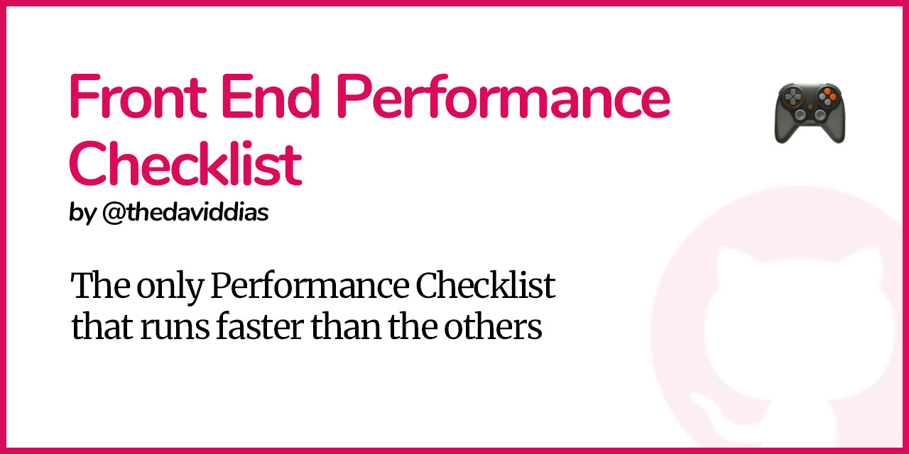 Front-End-Performance-Checklist