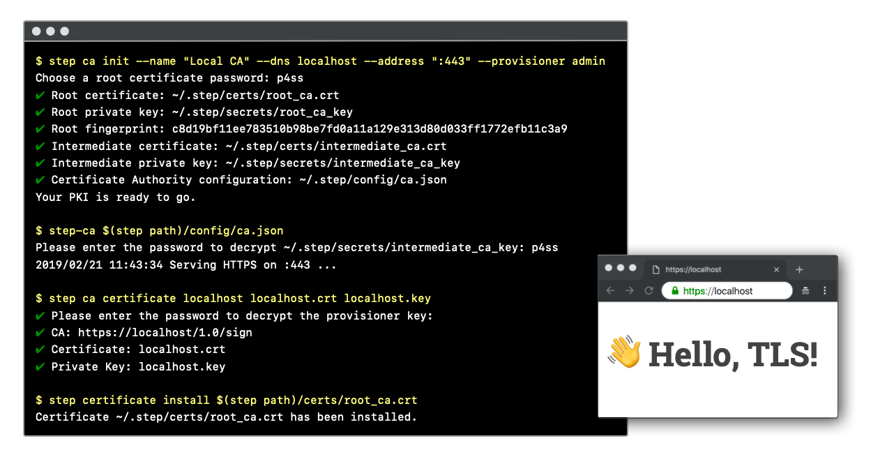 Github Smallstep Certificates A Private Certificate Authority X 509 Ssh Acme Server For Secure Automated Certificate Management So You Can Use Tls Everywhere Sso For Ssh