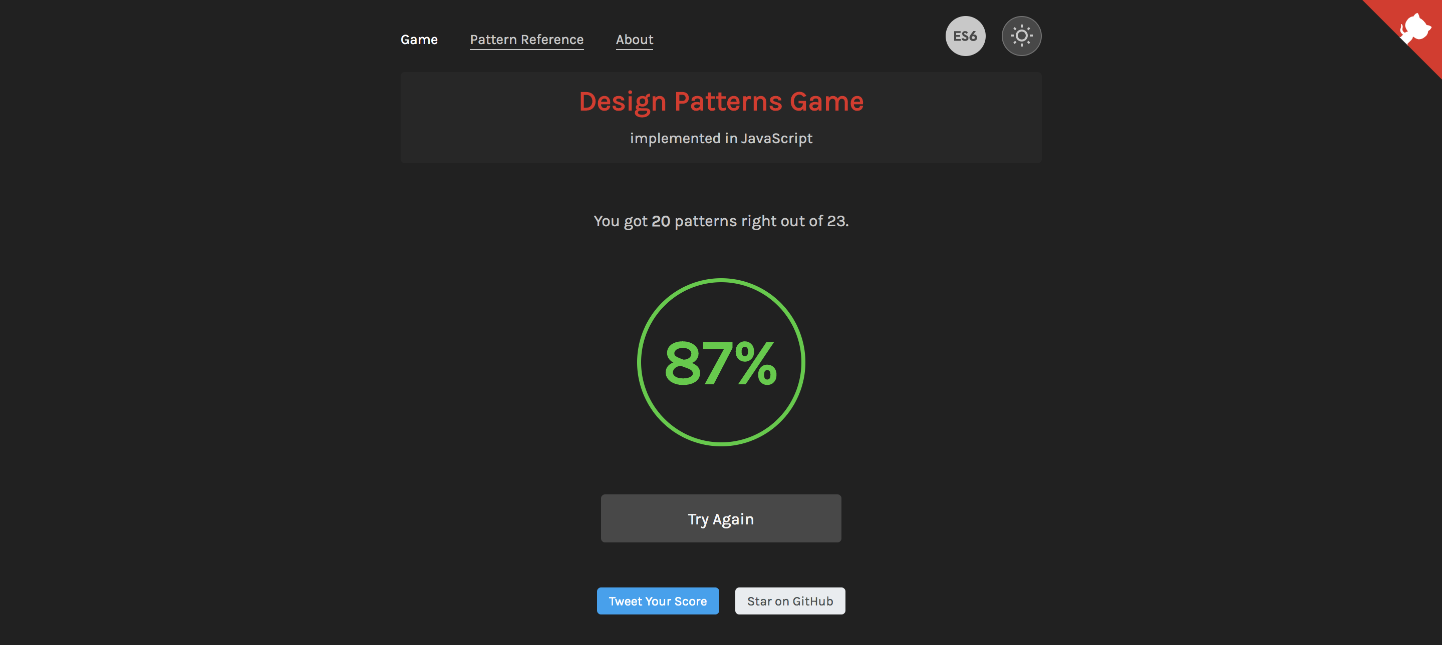 GitHub - zoltantothcom/Design-Patterns-JavaScript: A game to test