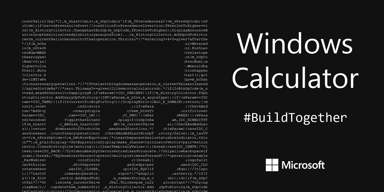 GitHub - microsoft/calculator: Windows Calculator: A simple