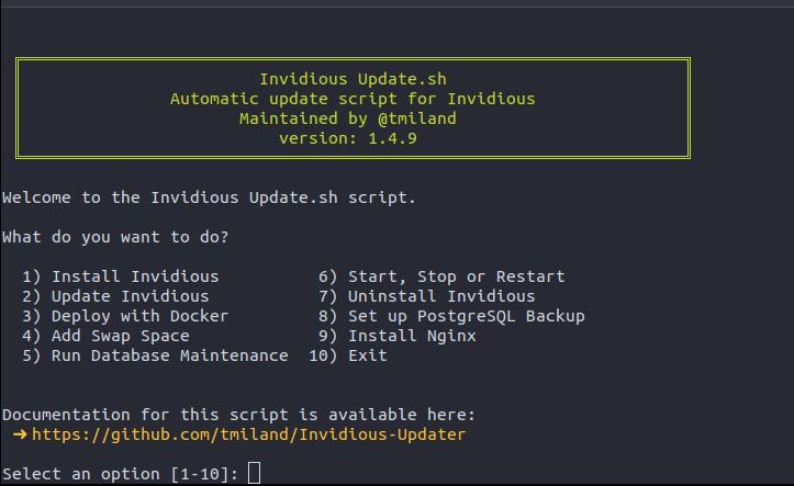 Invidious-Updater