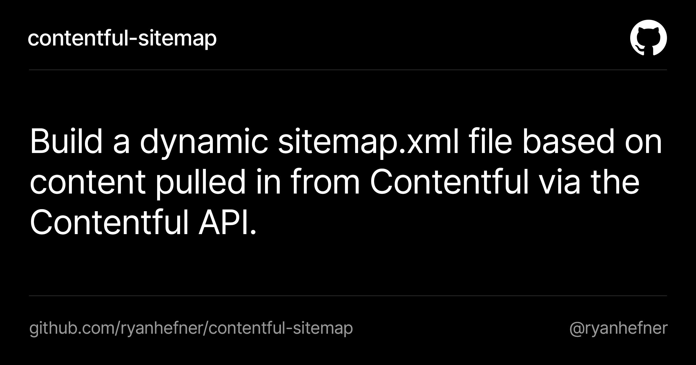 contentful-sitemap