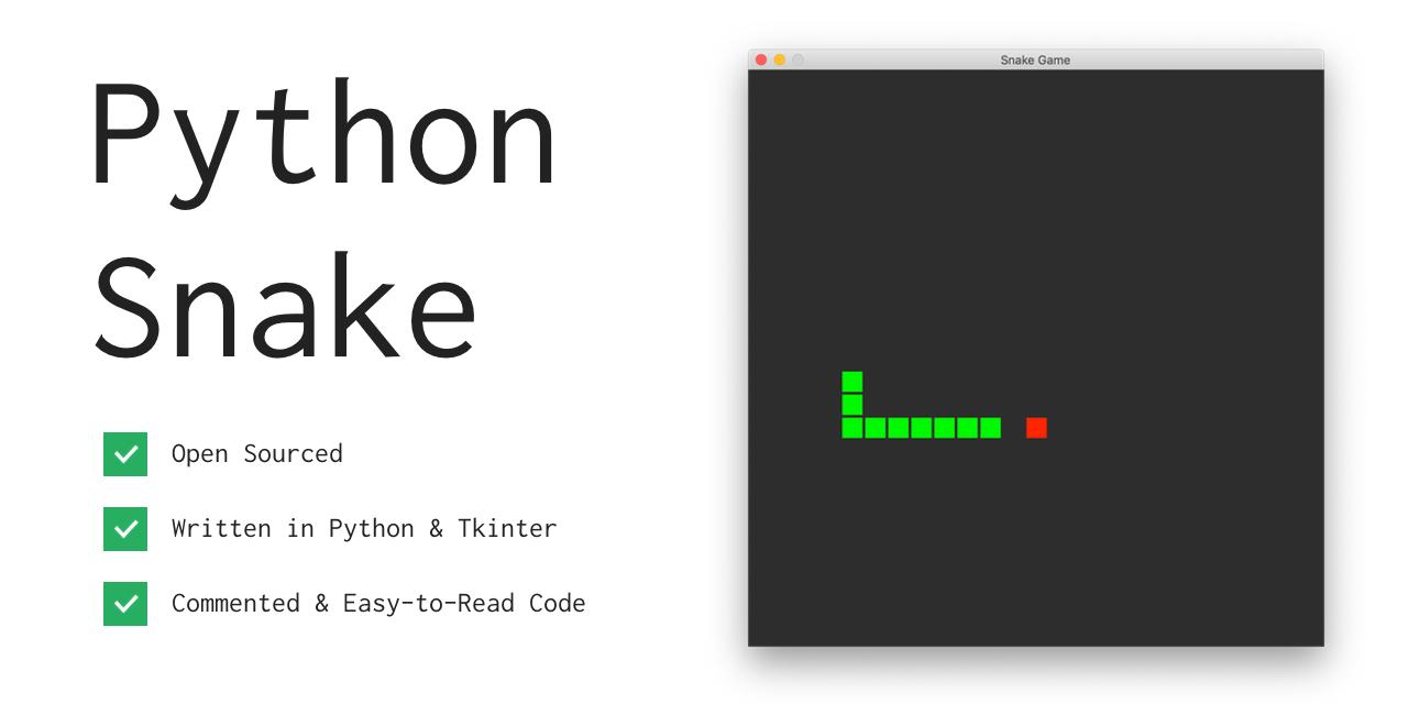 GitHub - xtrp/python-snake: The classic snake game written