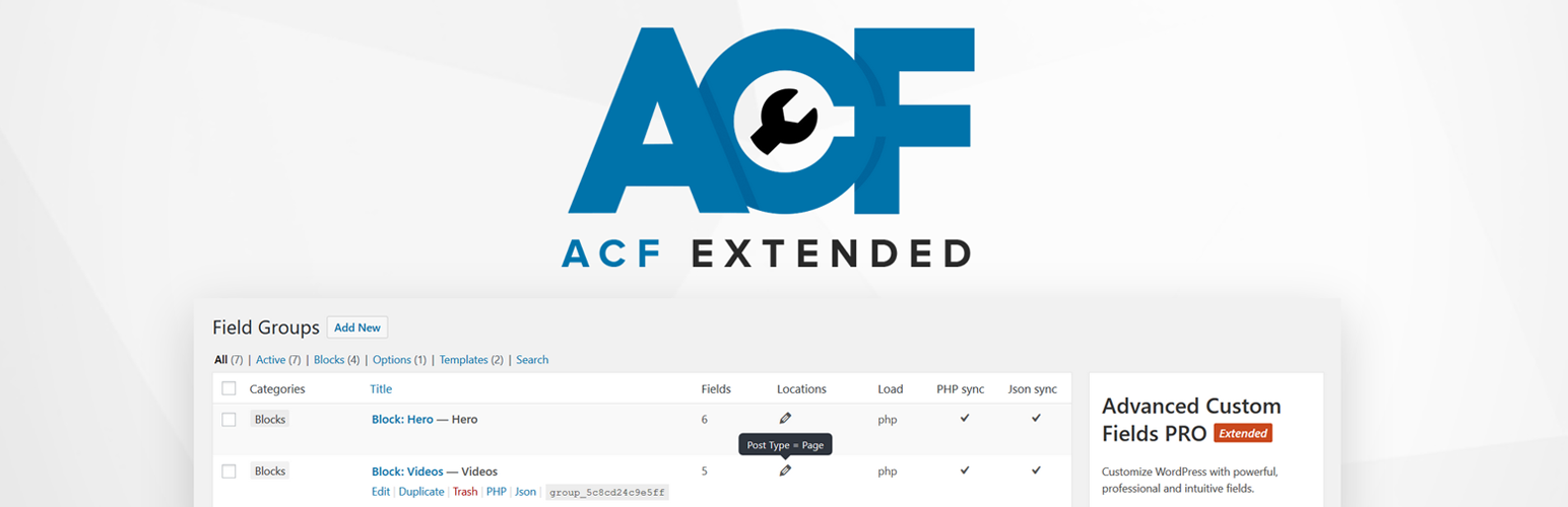 ACF-Extended