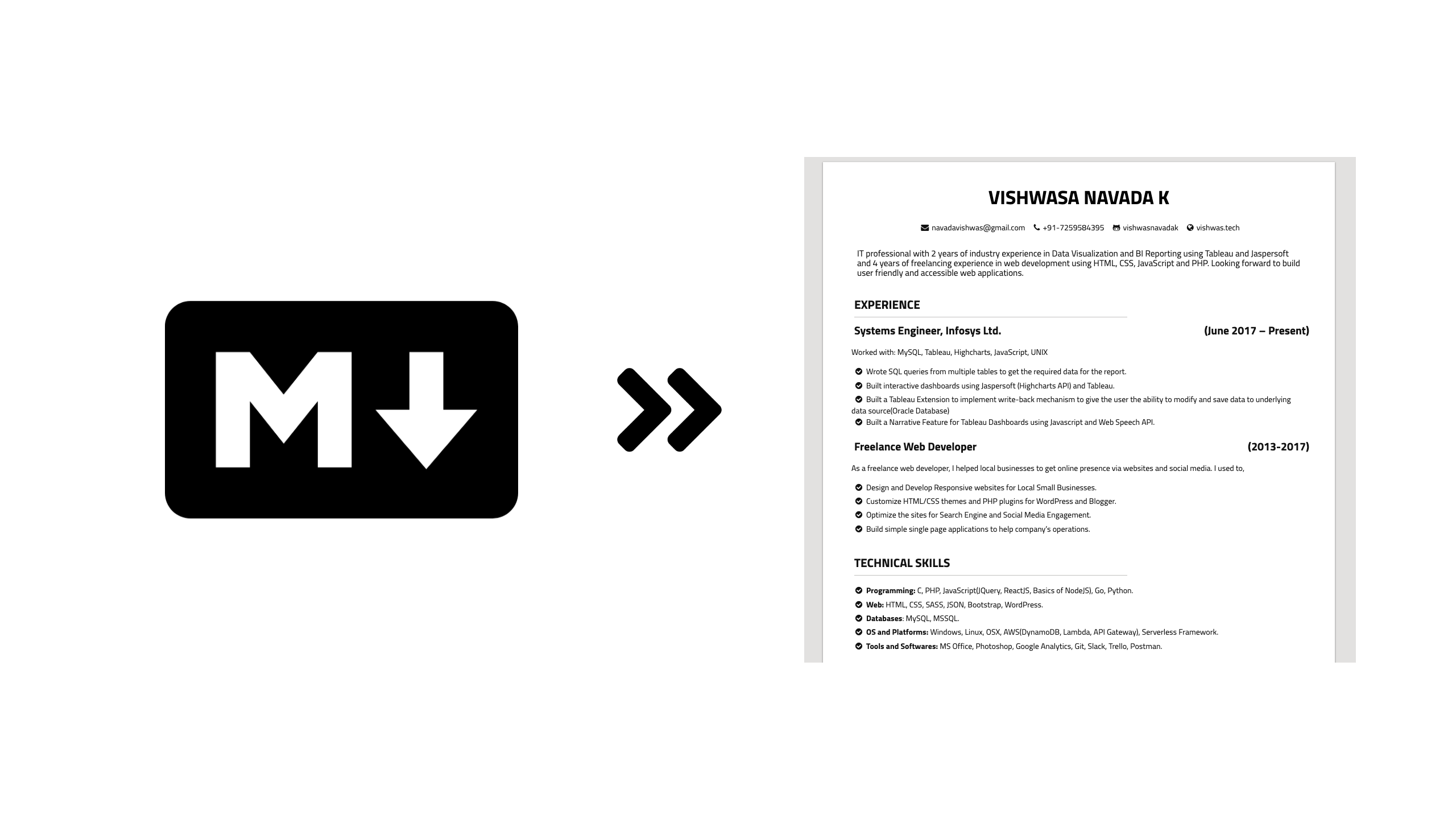 github  resume  this is a simple tool that