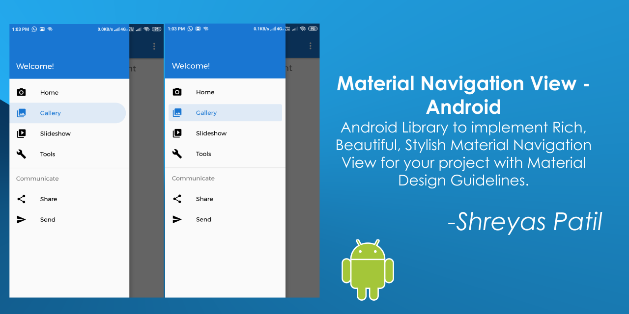 MaterialNavigationView-Android