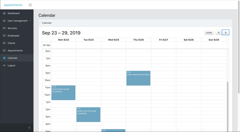 GitHub - LaravelDaily/Laravel-Appointments: Laravel 6 demo