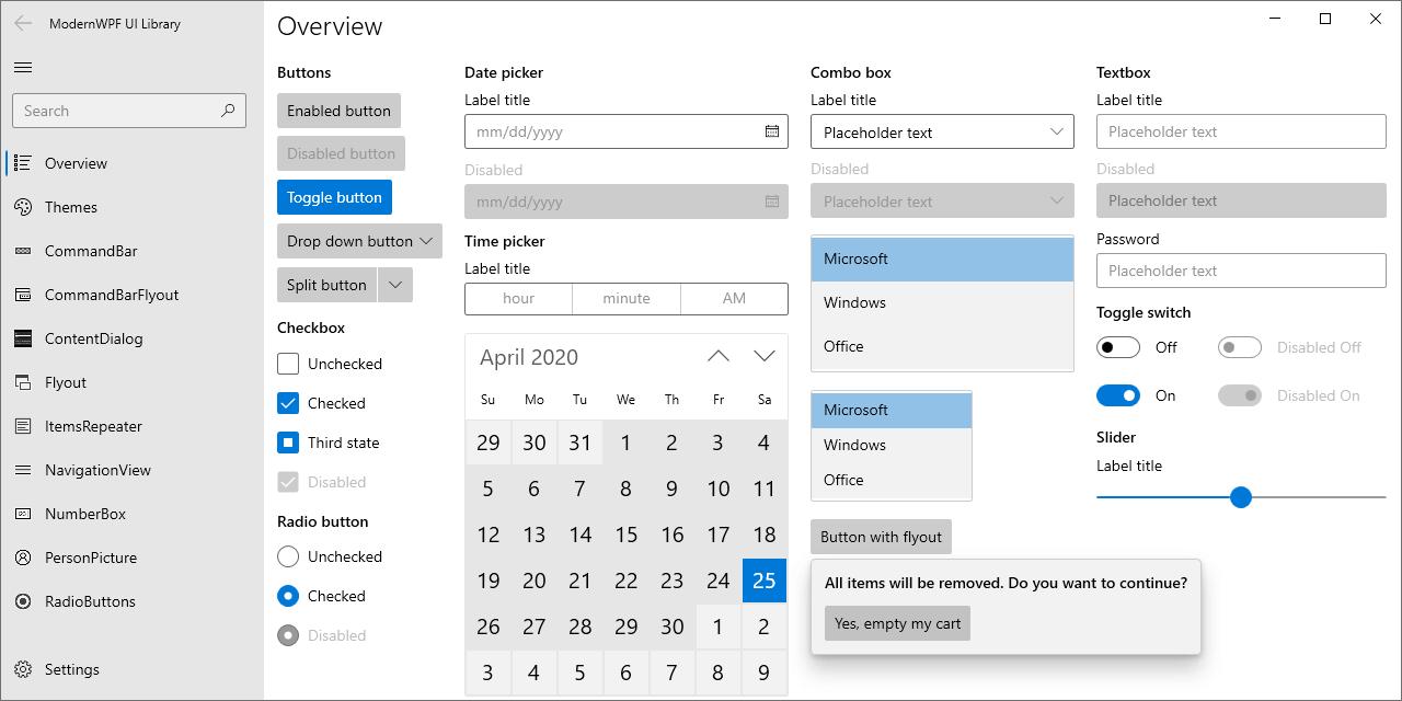 GitHub   Kinnara/ModernWpf Modern styles and controls for your ...
