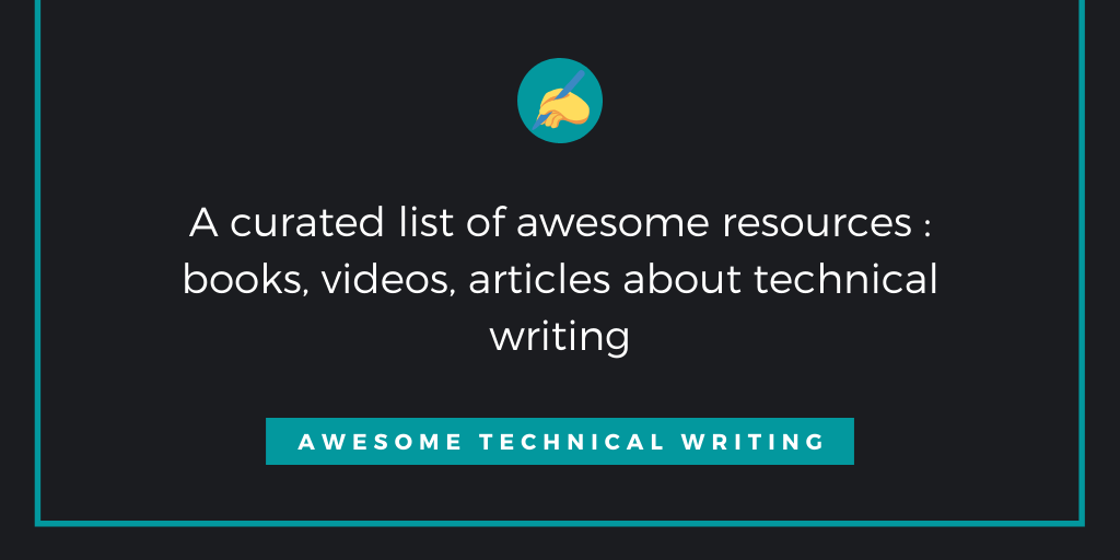 awesome-technical-writing