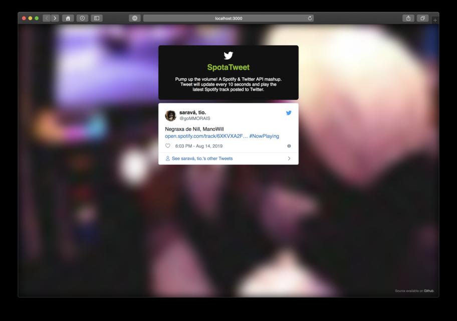 GitHub - twitterdev/spotatweet: A Spotify & Twitter API