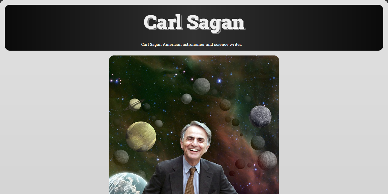 Screenshot of fcc-tribute-to-sagan