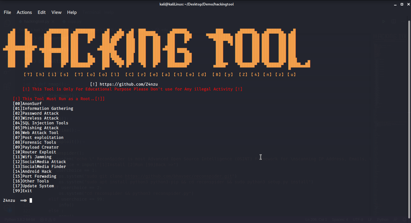 Github Z4nzu Hackingtool All In One Hacking Tool For Hackers