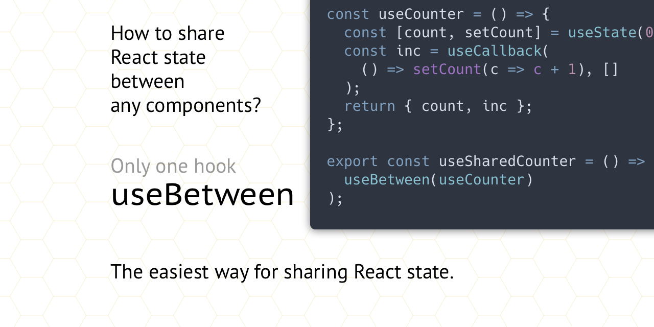 Reuse React hooks in state sharing