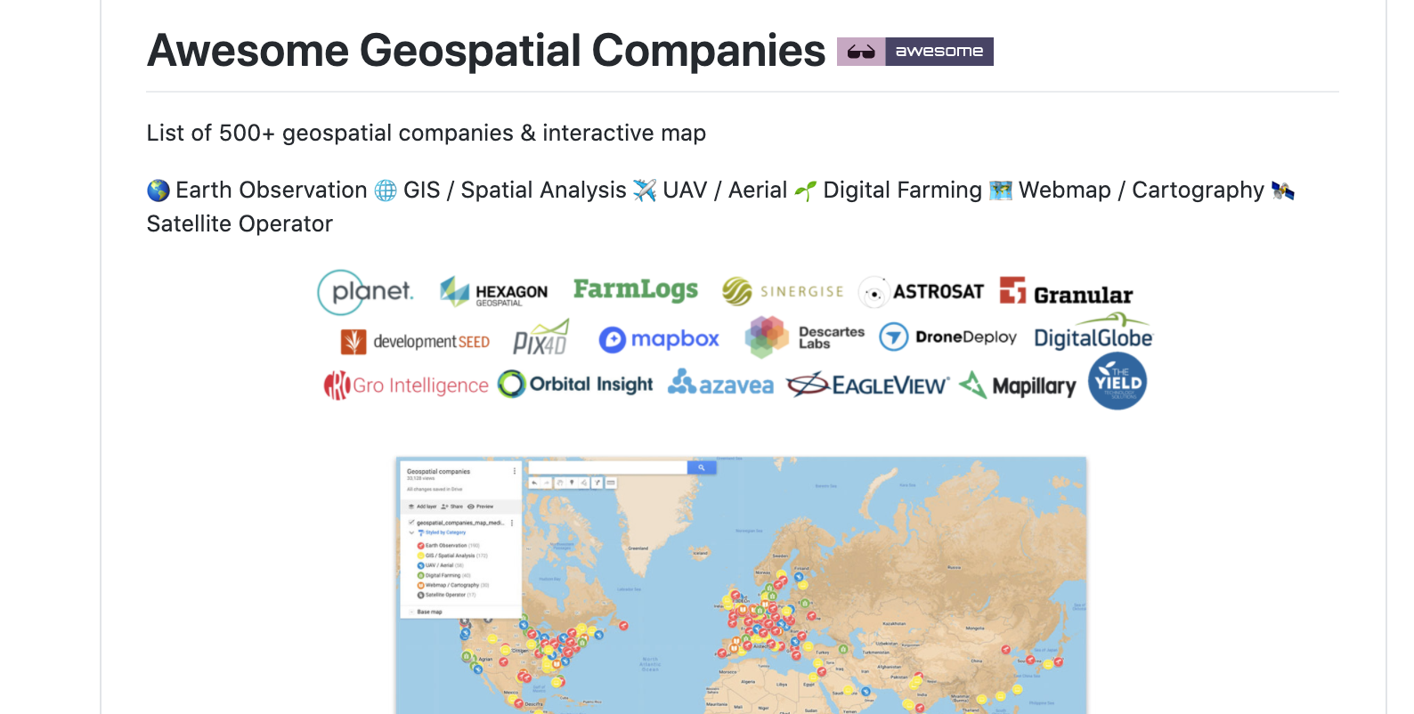awesome-geospatial-companies