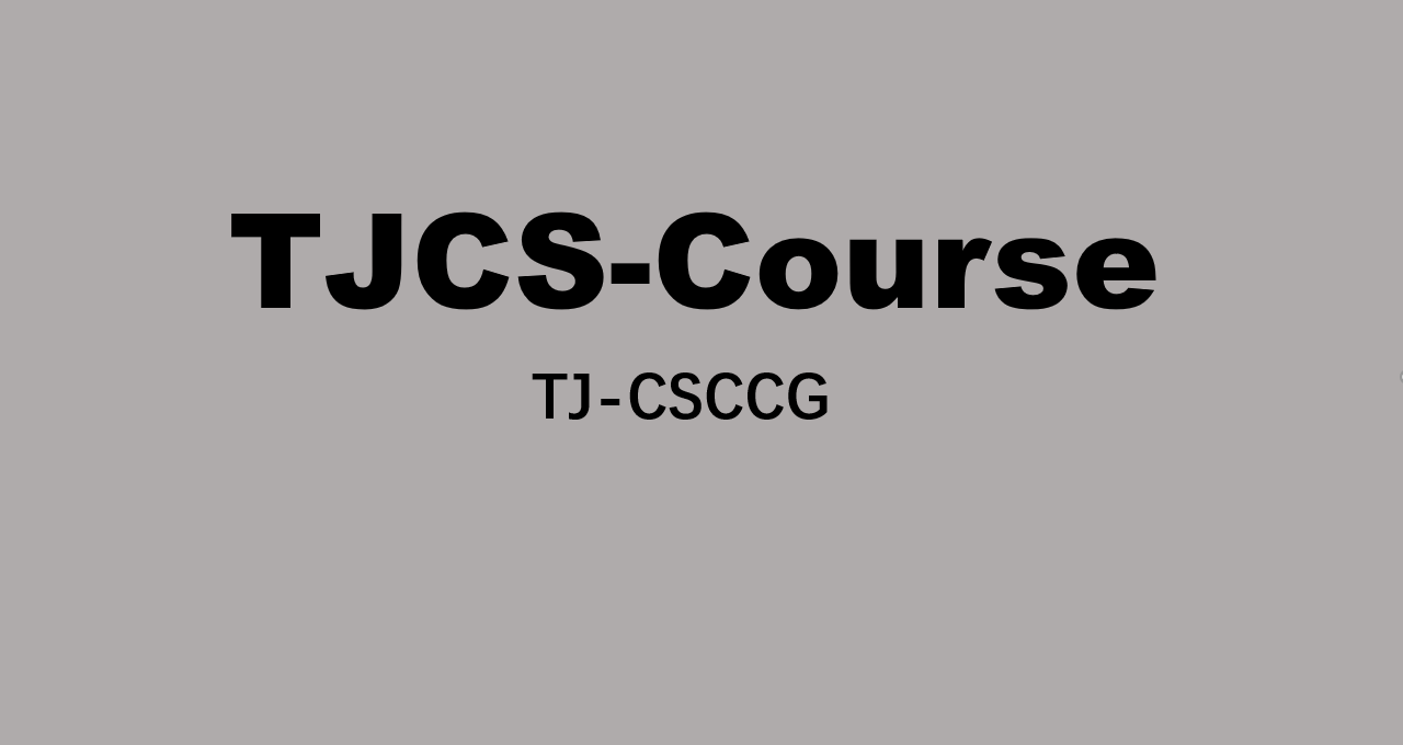 TJCS-Course