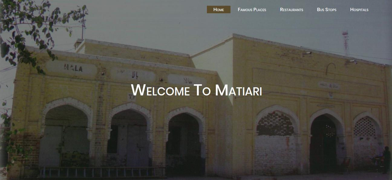 Explore-Matiari-Website