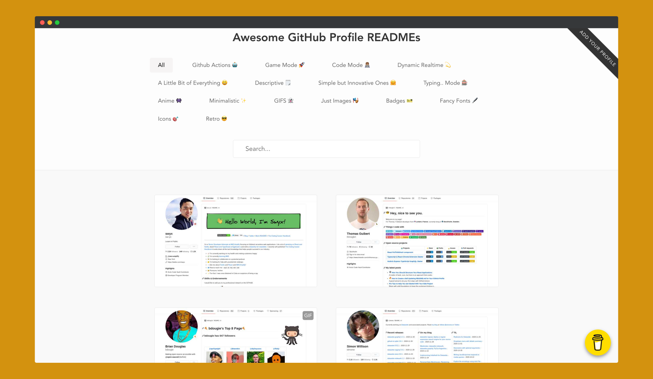 awesome-github-profile-readme