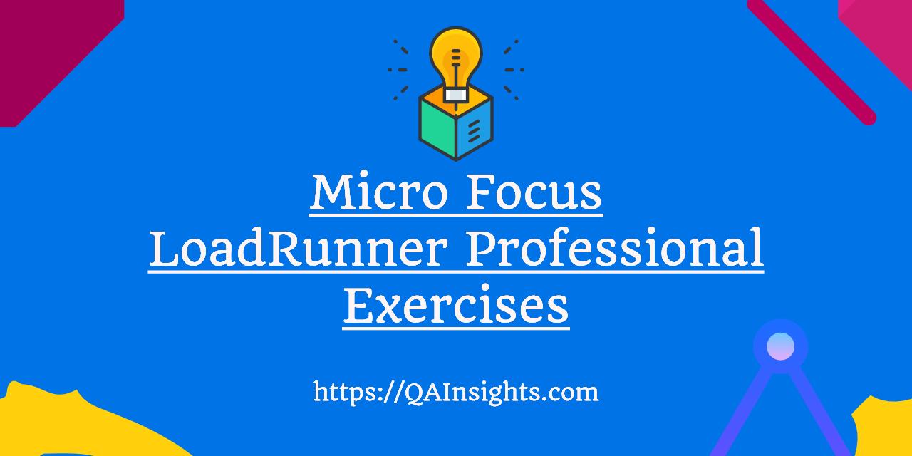 LoadRunner-Exercises