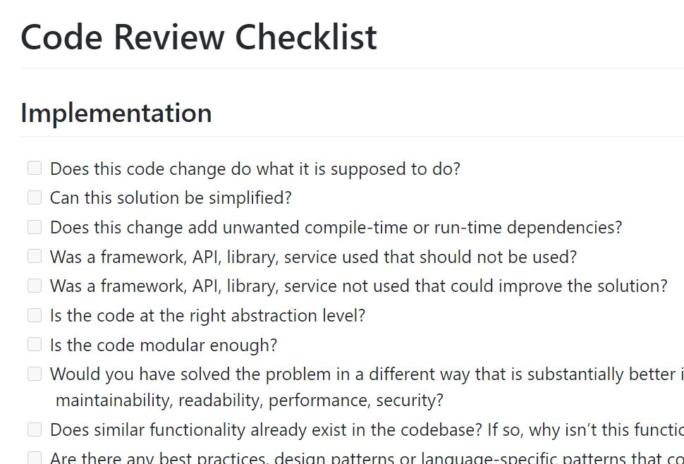 code-review-checklist