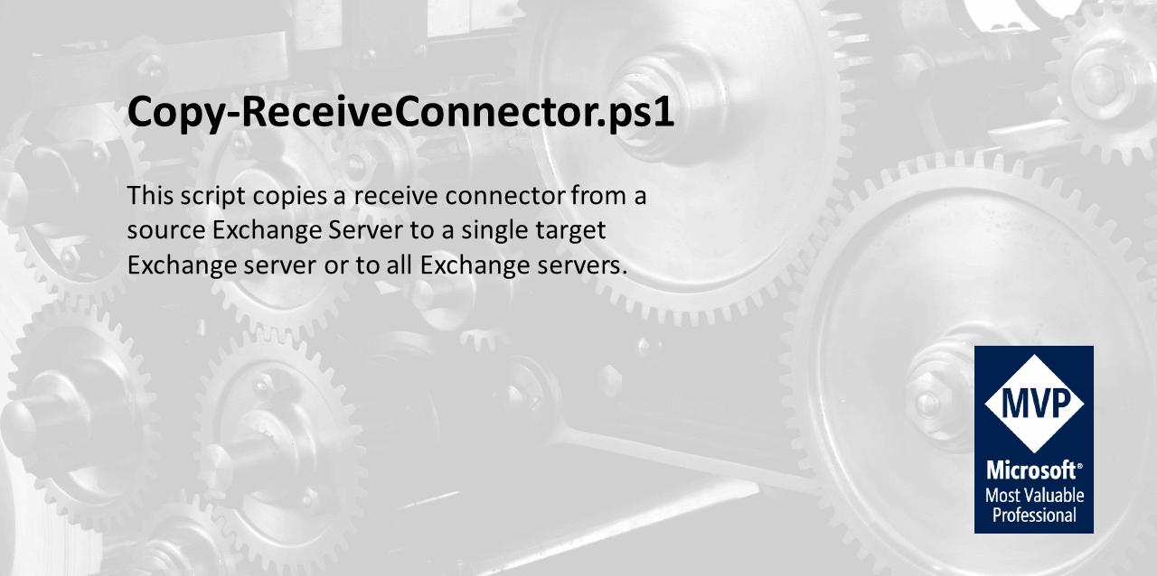 Copy-ReceiveConnector