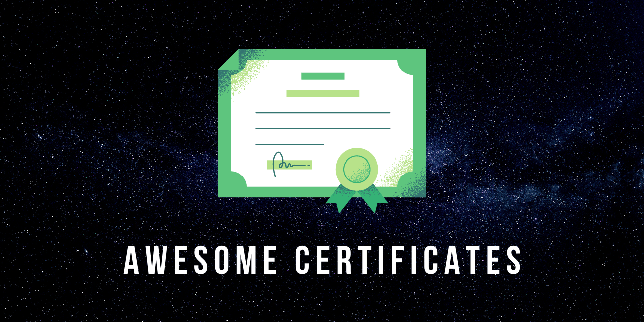 awesome-certificates