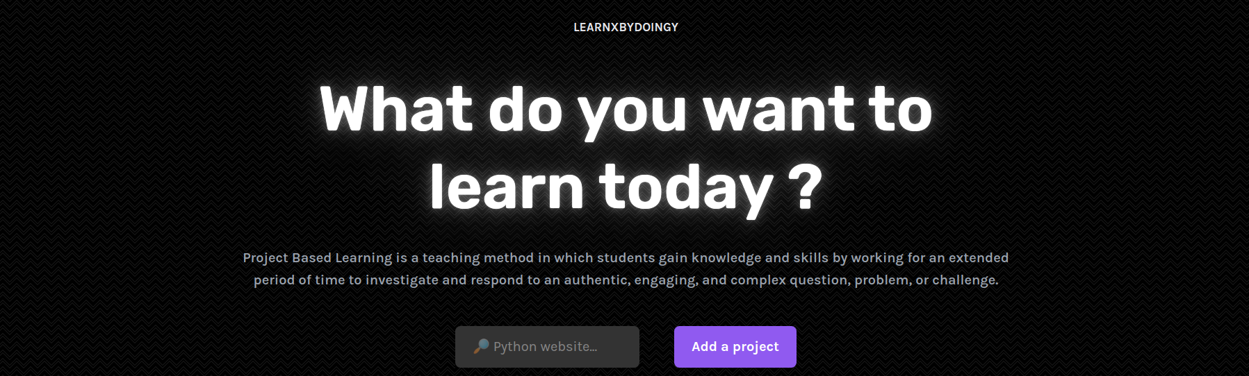 learn-x-by-doing-y