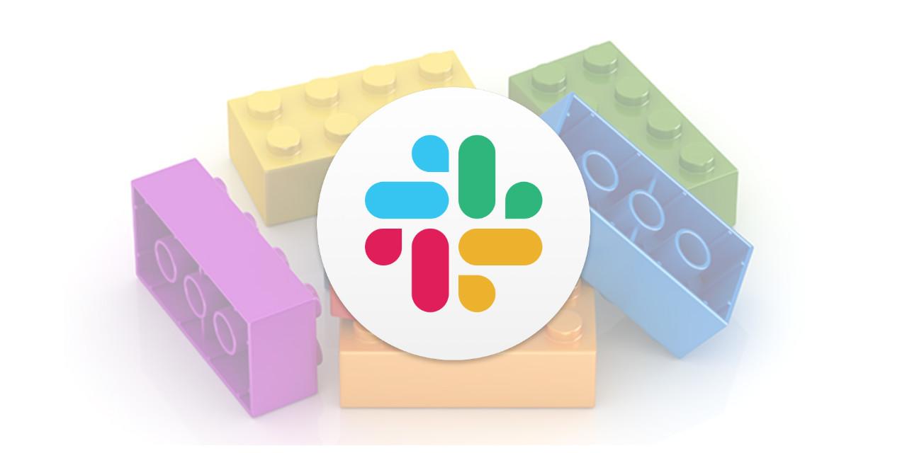 Slack logo placed on top of blocks