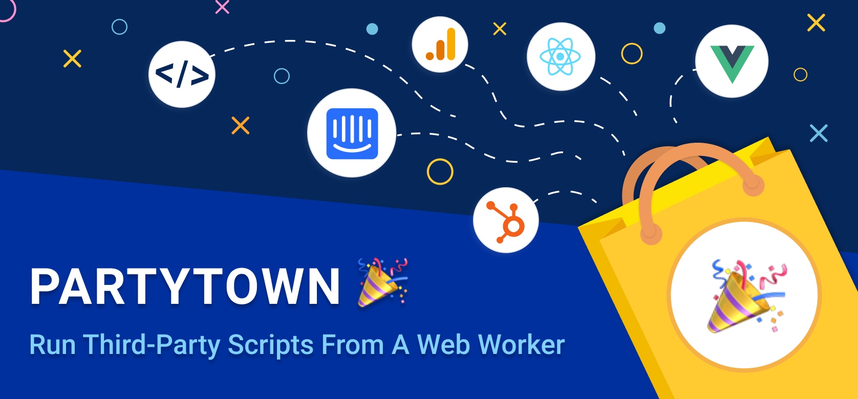 Partytown is a lazy-loaded 6kb library to help relocate resource intensive scripts into a web worker, and off of the main thread. Its goal is to help
