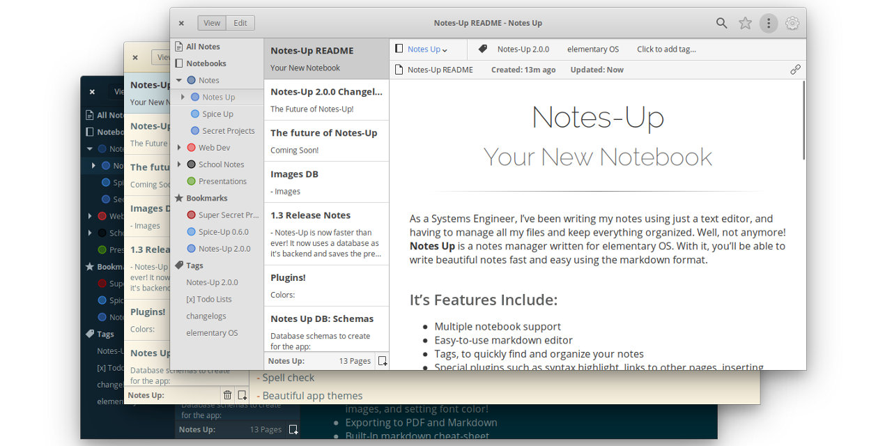 Notes-up
