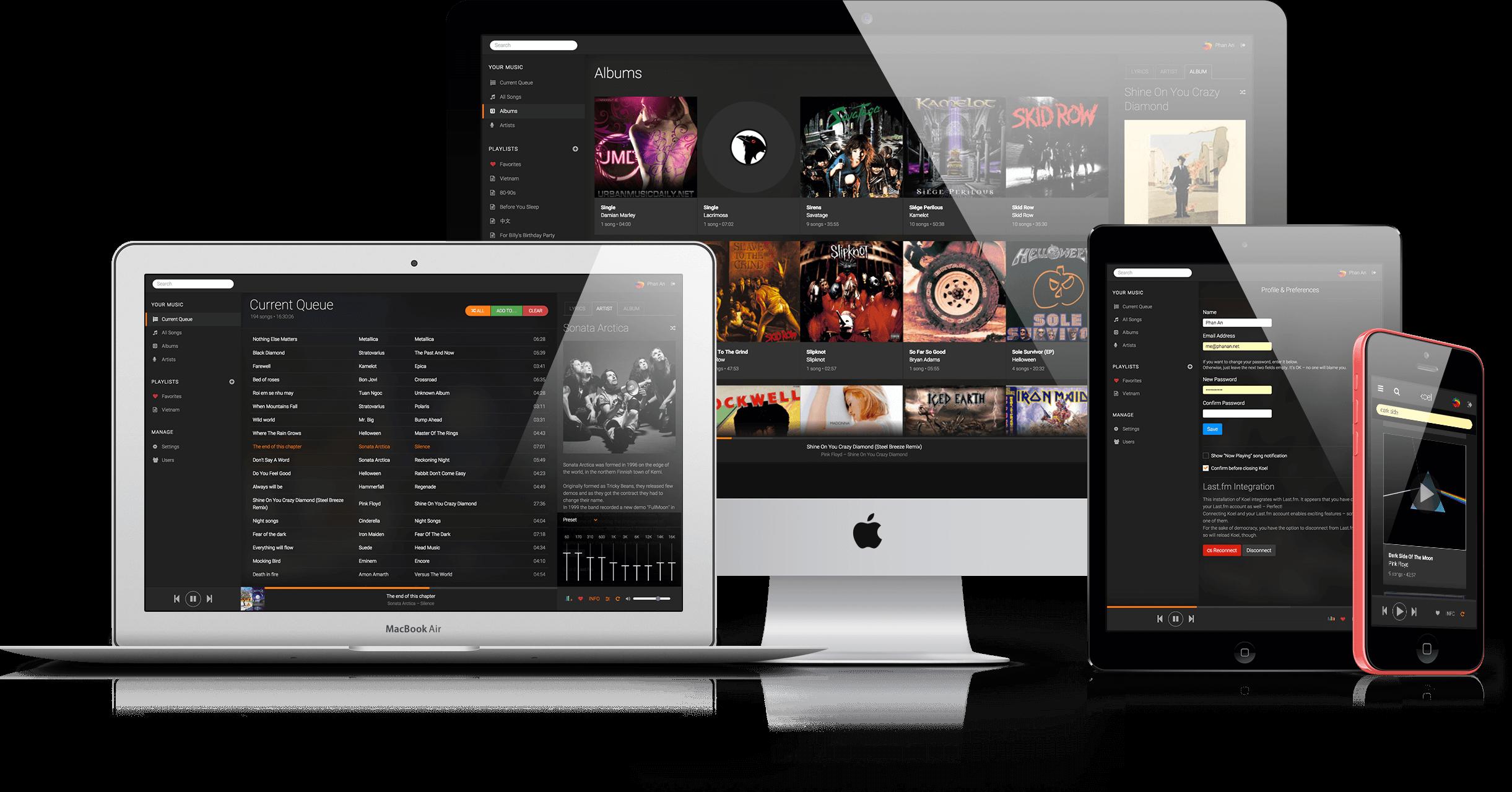 GitHub - phanan/koel: 🐦 A personal music streaming server that works