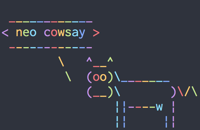 Neo-cowsay