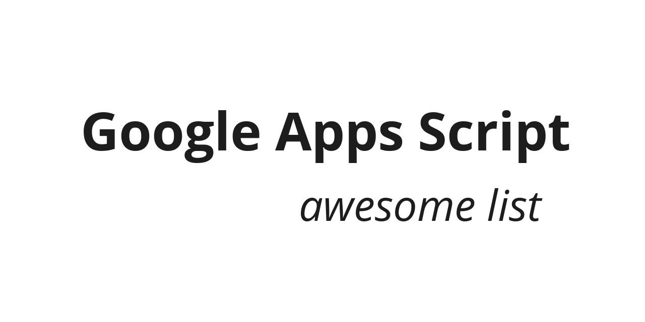 google-apps-script-awesome-list