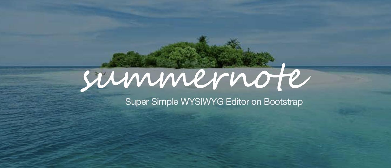 GitHub - summernote/summernote: Super simple WYSIWYG editor